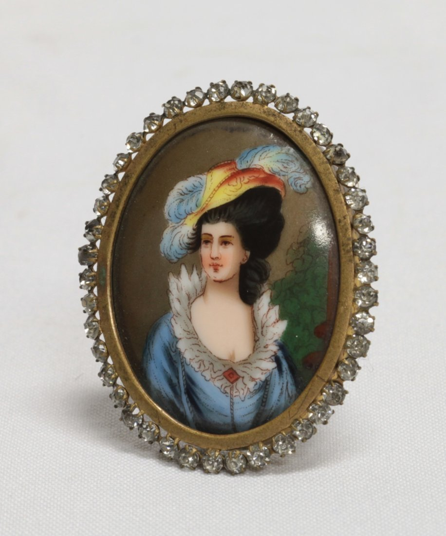 Porcelain Miniature Plaque- 19th C. with Frame