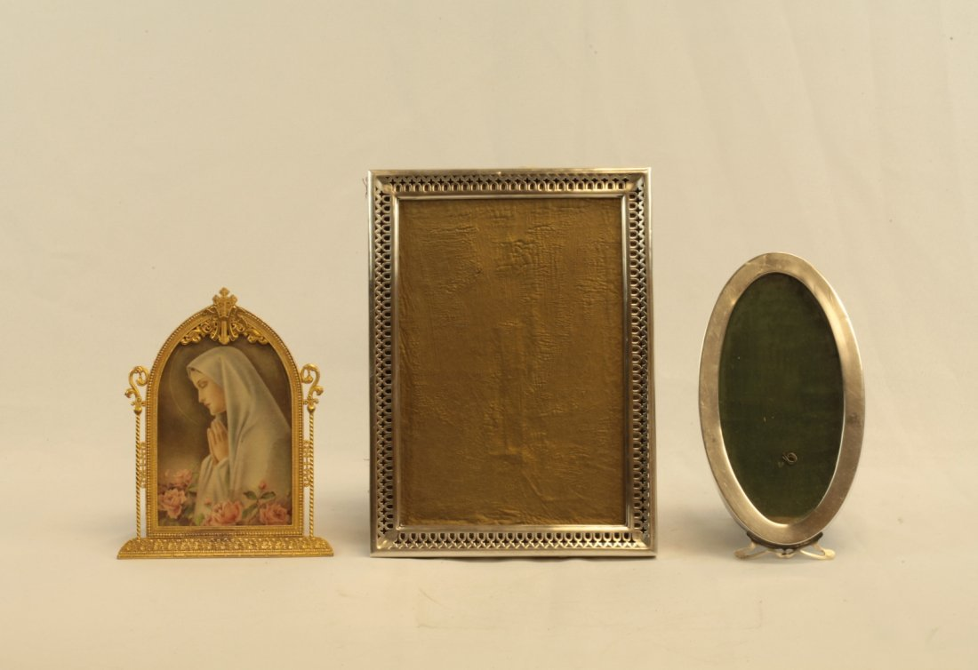 Lot of 3 Frames- 2 sterling silver and 1 Dore Bron