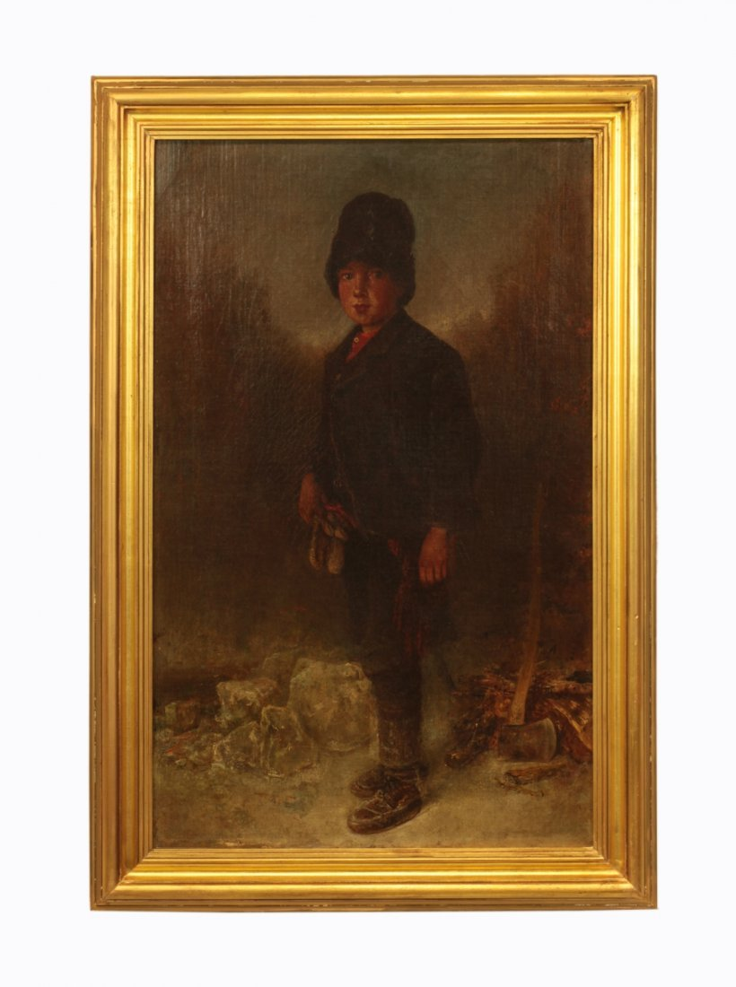 19th C. Signed Russian Oil on Canvas