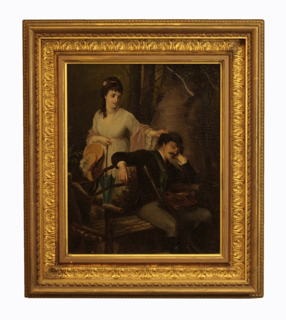 19th C. Oil Painting on Canvas