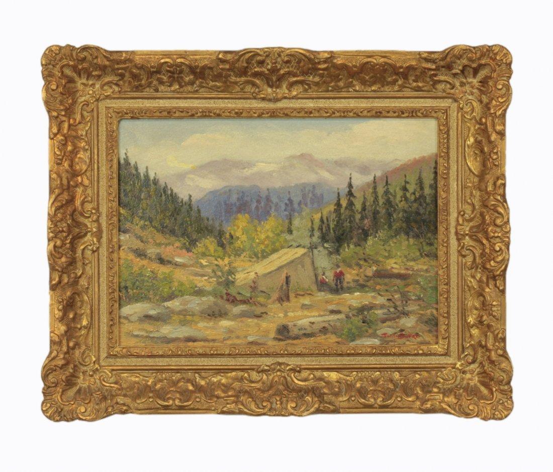 Oil on Cardboard- Landscape- Signed