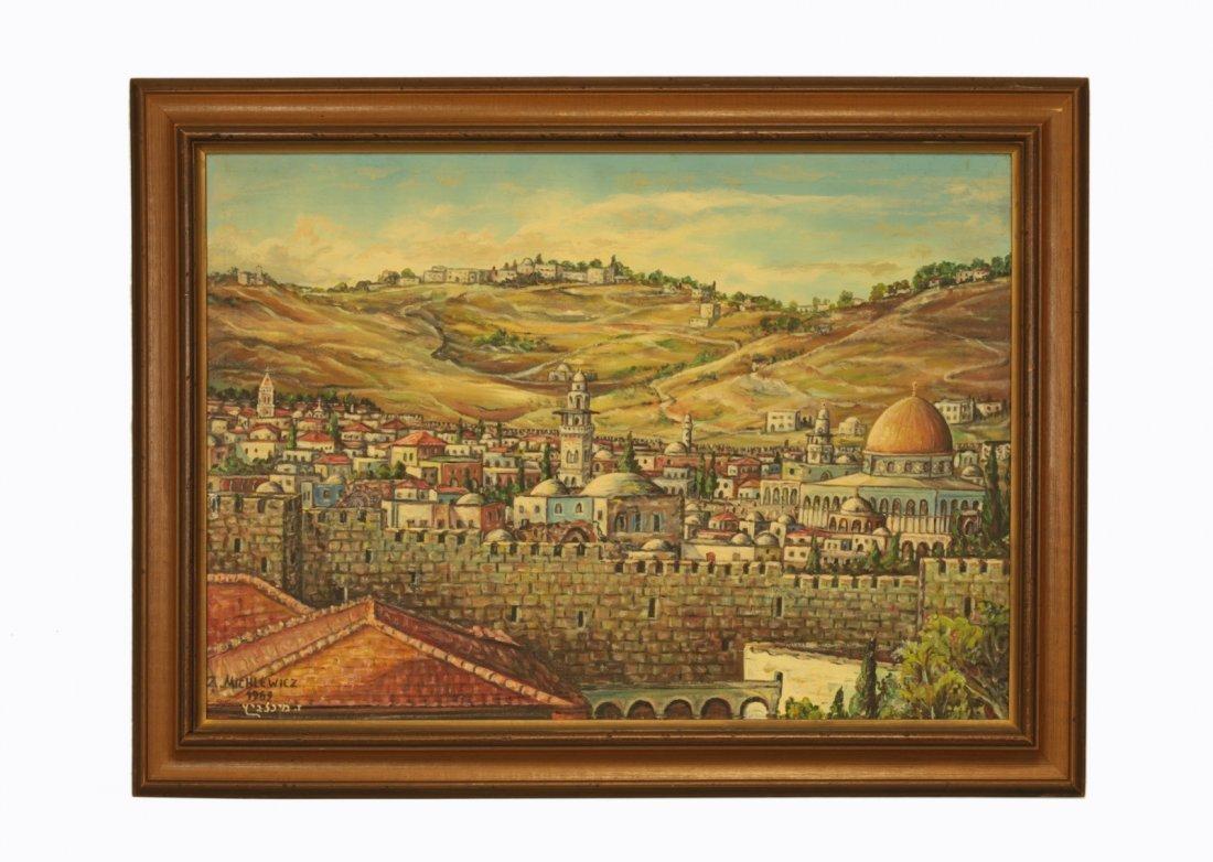 "Oil on Canvas by ""Z. Michlewicz""- Judaica"