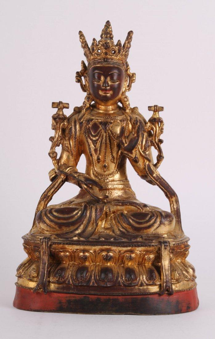18th C. Chinese Gilt Buddha