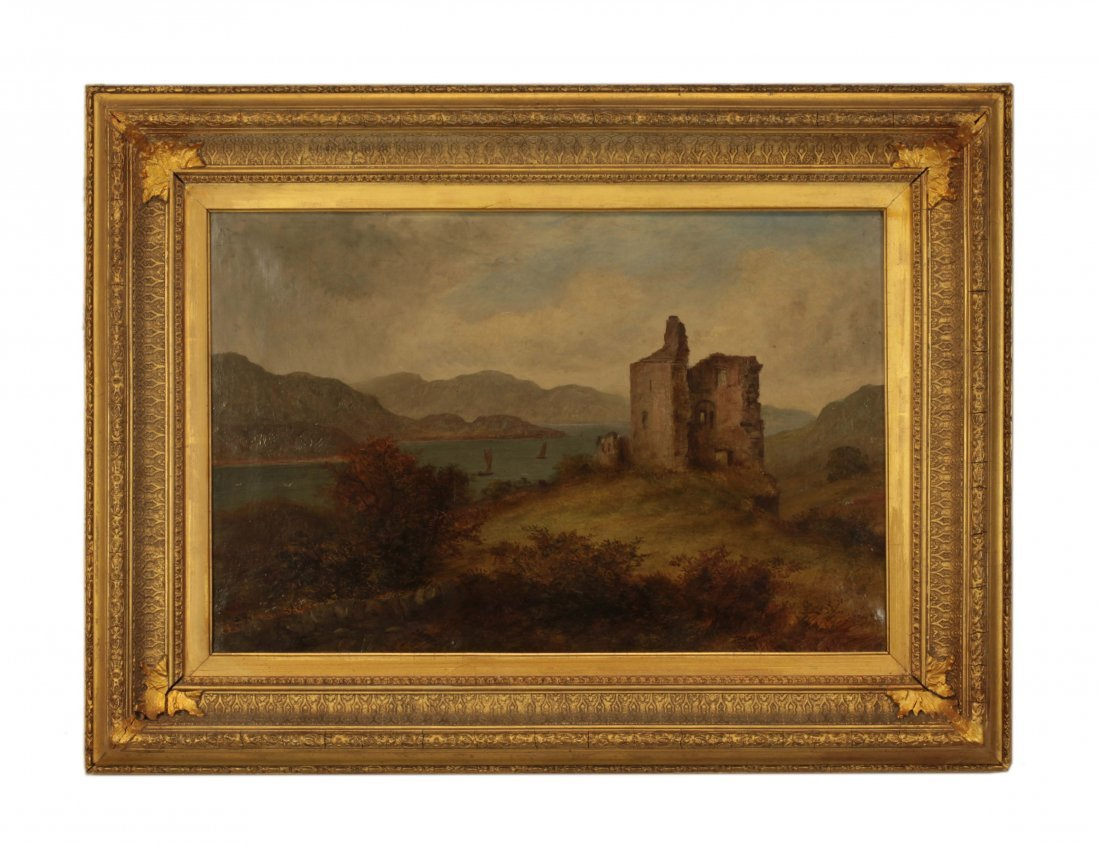19th C. Signed Oil on Canvas Landscape