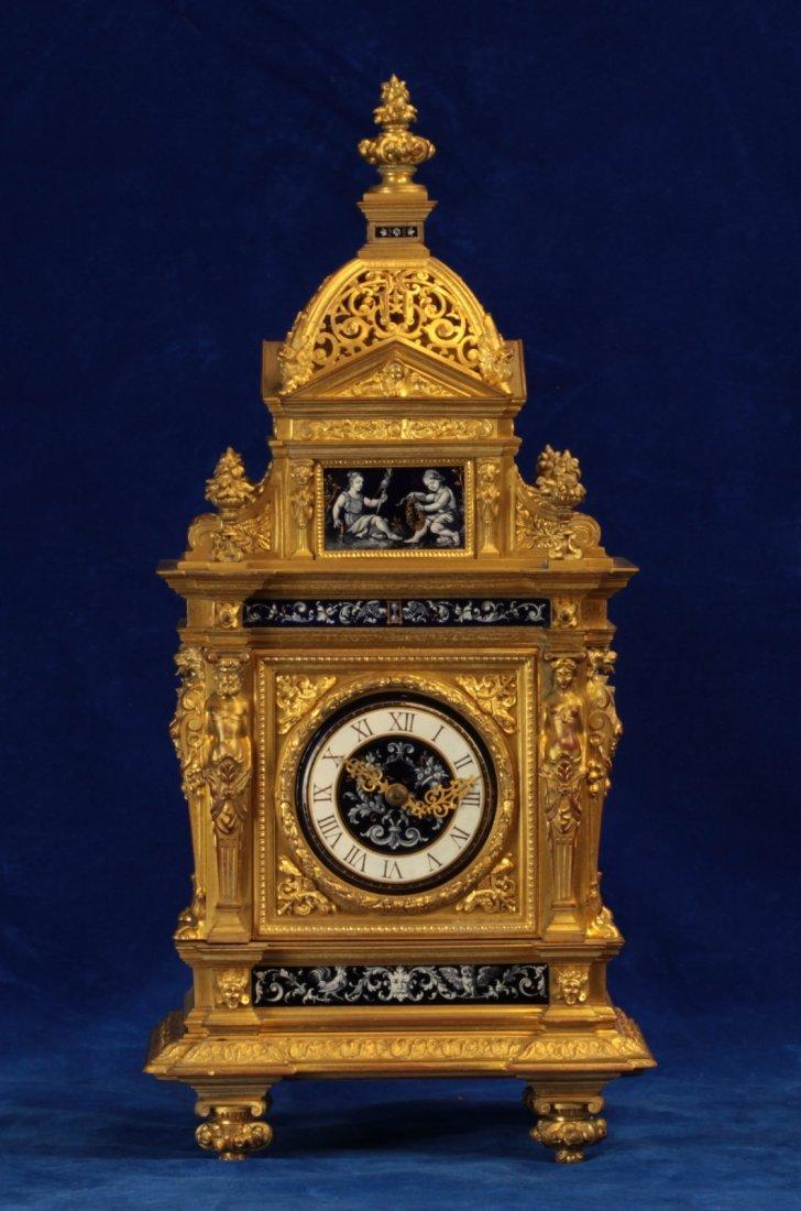 Rare Earlier 19th C. Dore Bronze Clock