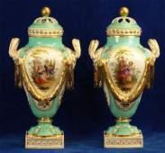 18th CPair of Meissen Augustus Rex Porcelain Vase