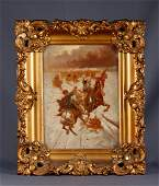 Russian Impressionist Oil on Canvas wGilded Frame