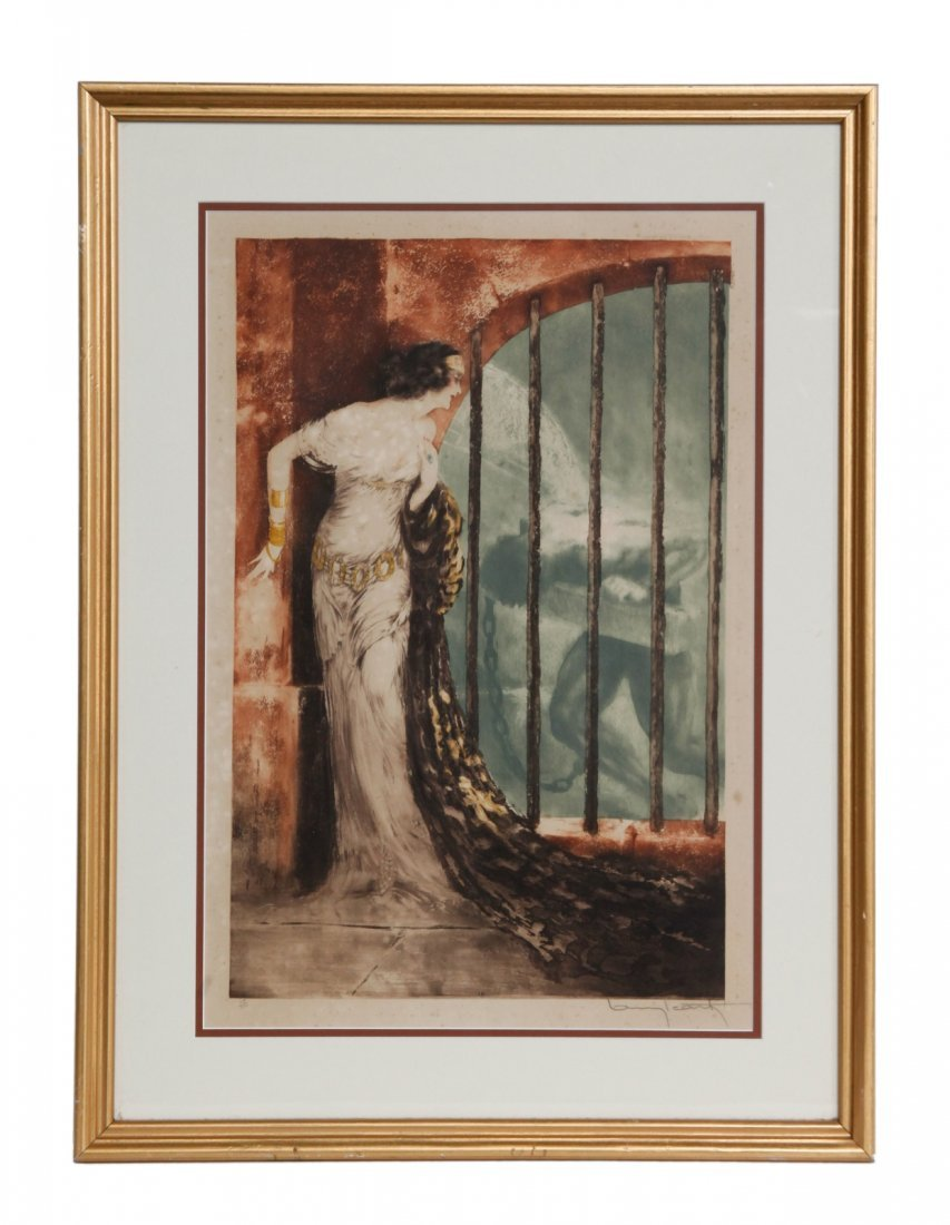 """L.Icart"" - Painting w/ frame, Signed"