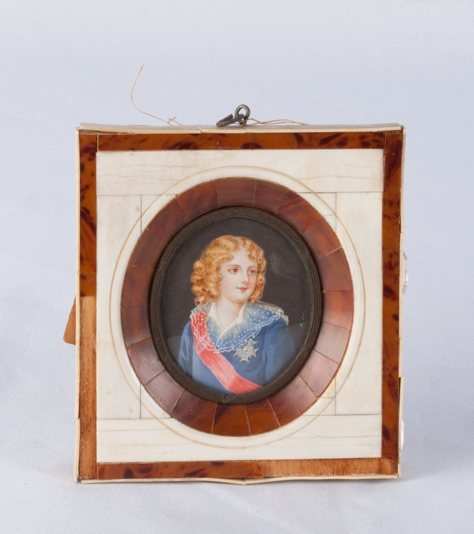 Hand Painted Portrait of a Woman with Frame