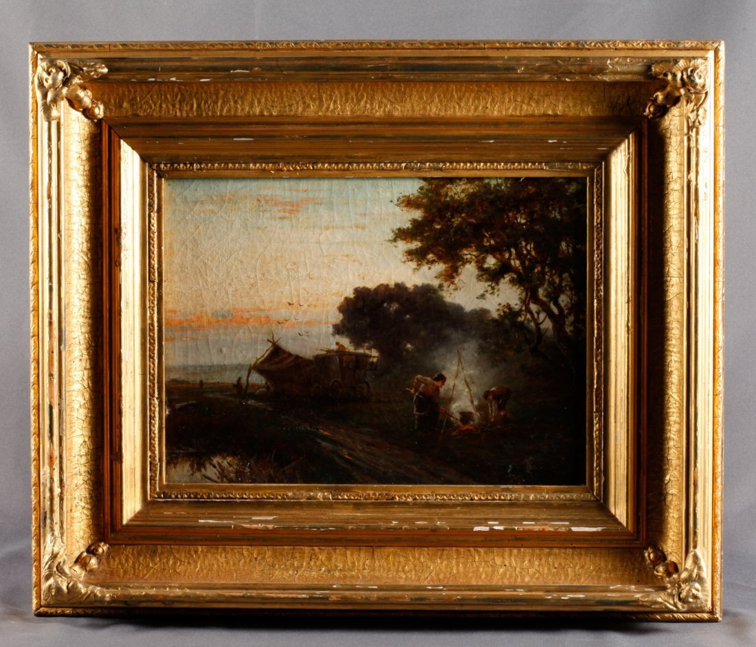 H. Martin. Oil on Canvas in Frame, 19th C.