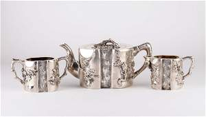 3 Pieces Sterling Silver Tea Set w Mark
