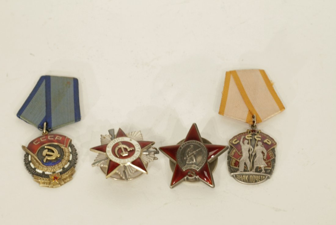 4 Pieces of Russian Medals