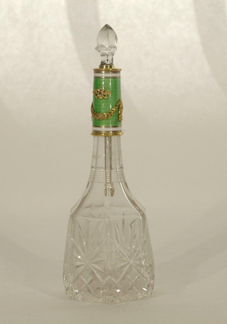 Russian Silver Perfumer Bottle