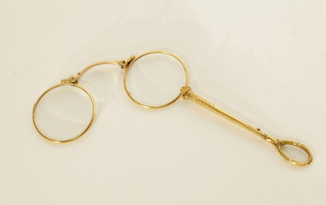 Russian 14K Gold Glasses w/ Original Box