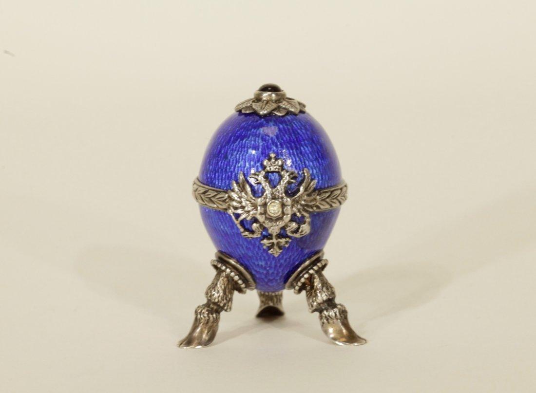 Antique Russian Silver & Jewel & Enamel w/ Ruby