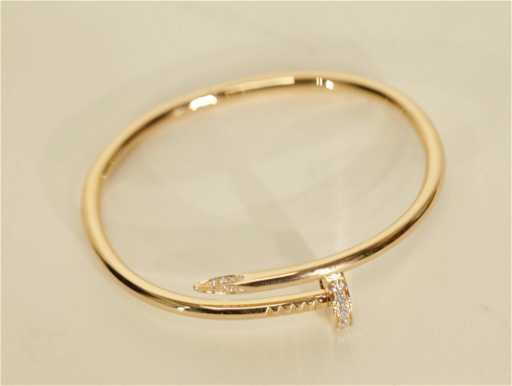 345b5896e4c Cartier Nail Design Bracelet w  Diamonds. See Sold Price