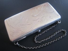 Russian Silver Hand Engraved Purse