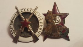 Two Russian Soviet Badges Orders