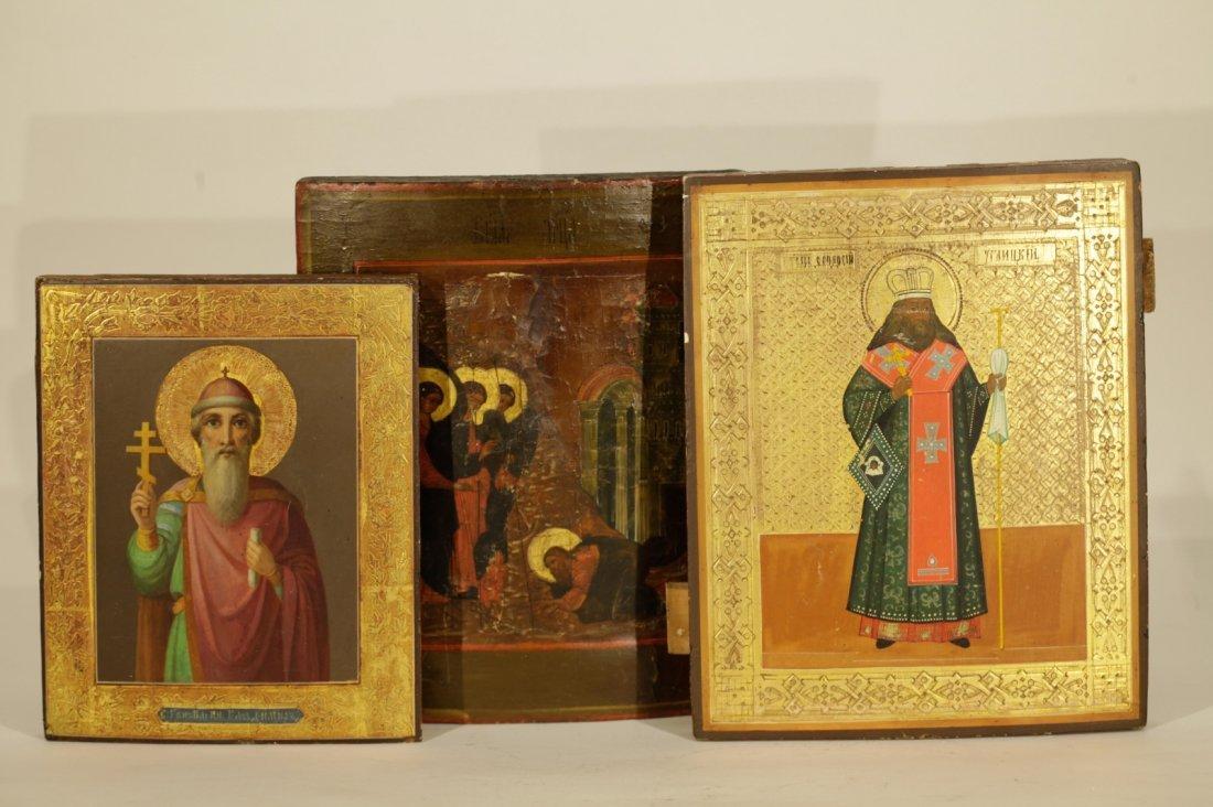 3 Russian Icon 19th C.
