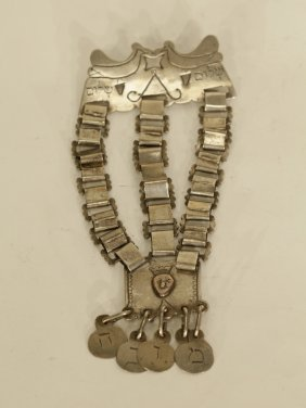 Silver Amulet With Hebrew