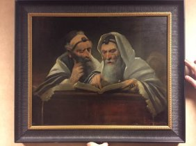 Judaica Oil Painting On Board