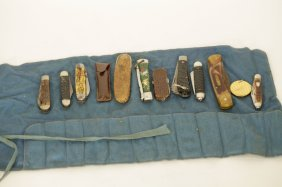 A Group Of American Old Antique Knives