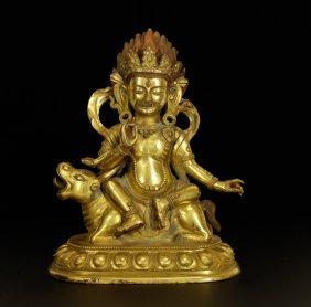 Chinese Bronze Seating Buddha