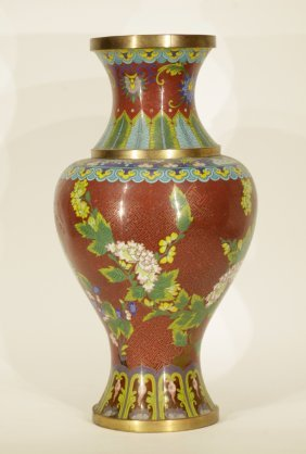 Early 20th C. Chinese Cloisonne Vase