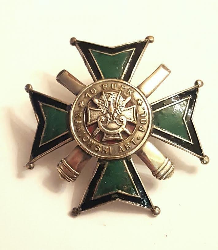 Antique silver enamel Artillery Badge