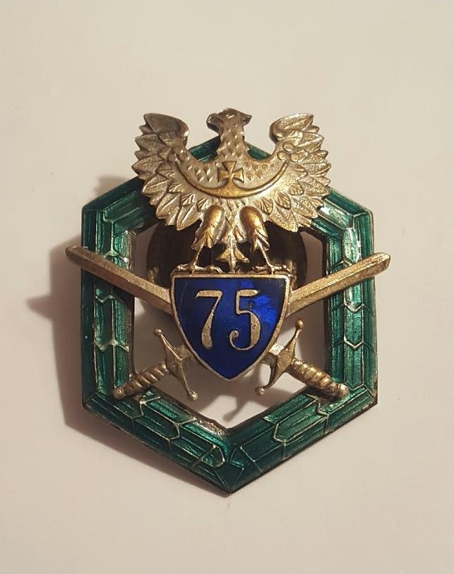 Antique Polish Gilt Bronze and enamel badge