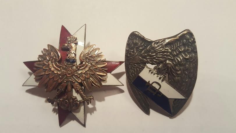 Antique Polish Enamel badges with the eagle