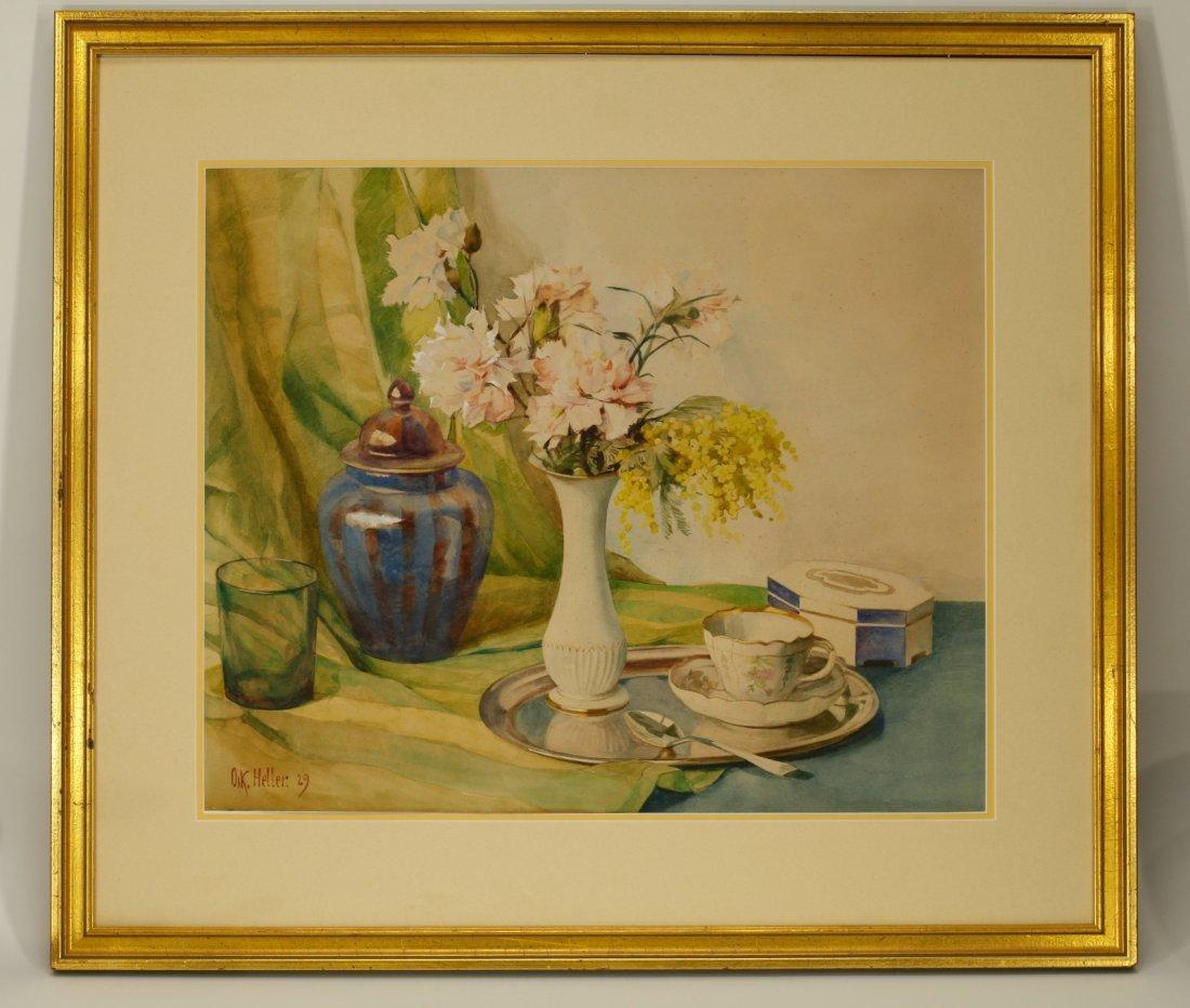 American Watercolor Painting by D.K.Heller, 1929,