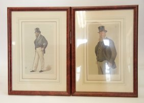 17 Pieces Of Vanity Fair Lithography With Frames