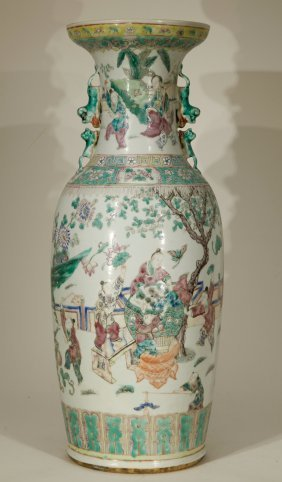 19th/republic Period Chinese Famille Rose Vase