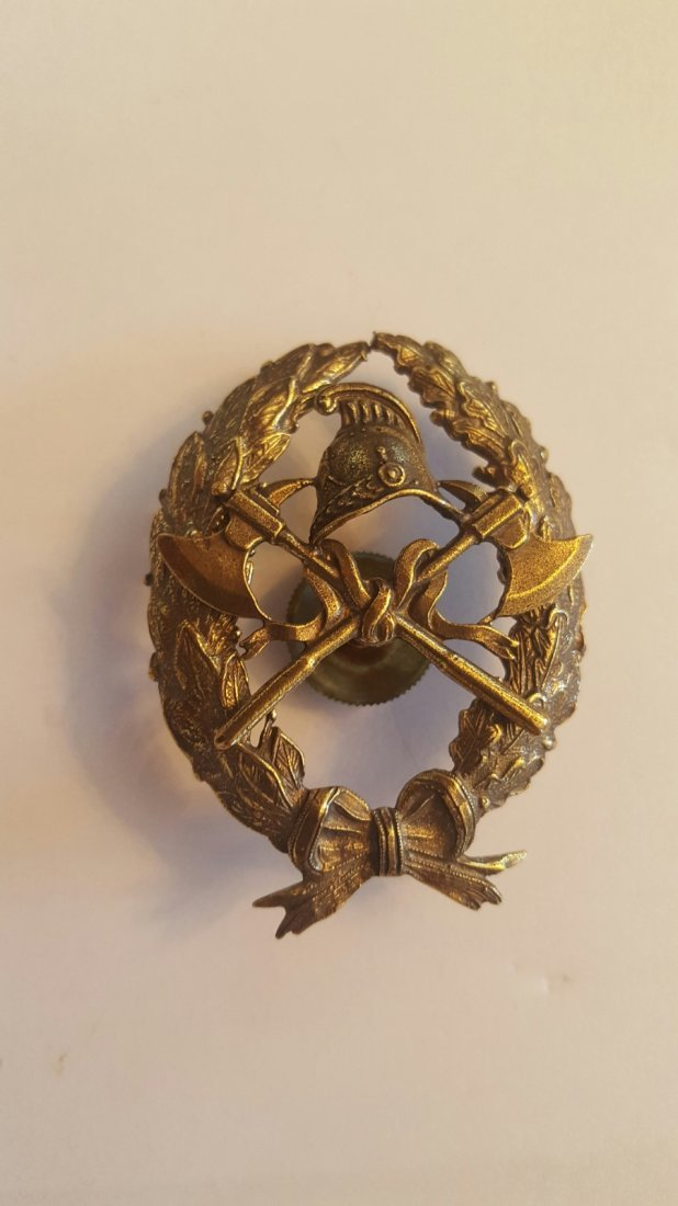 Imperial Russian Bronze Firefighter badge