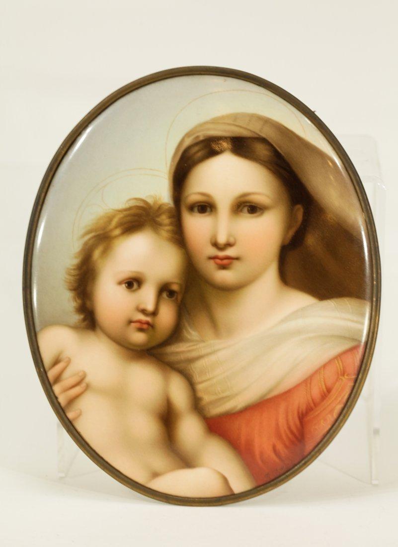 German K.P.M Hand-Painted Porcelain Plaque