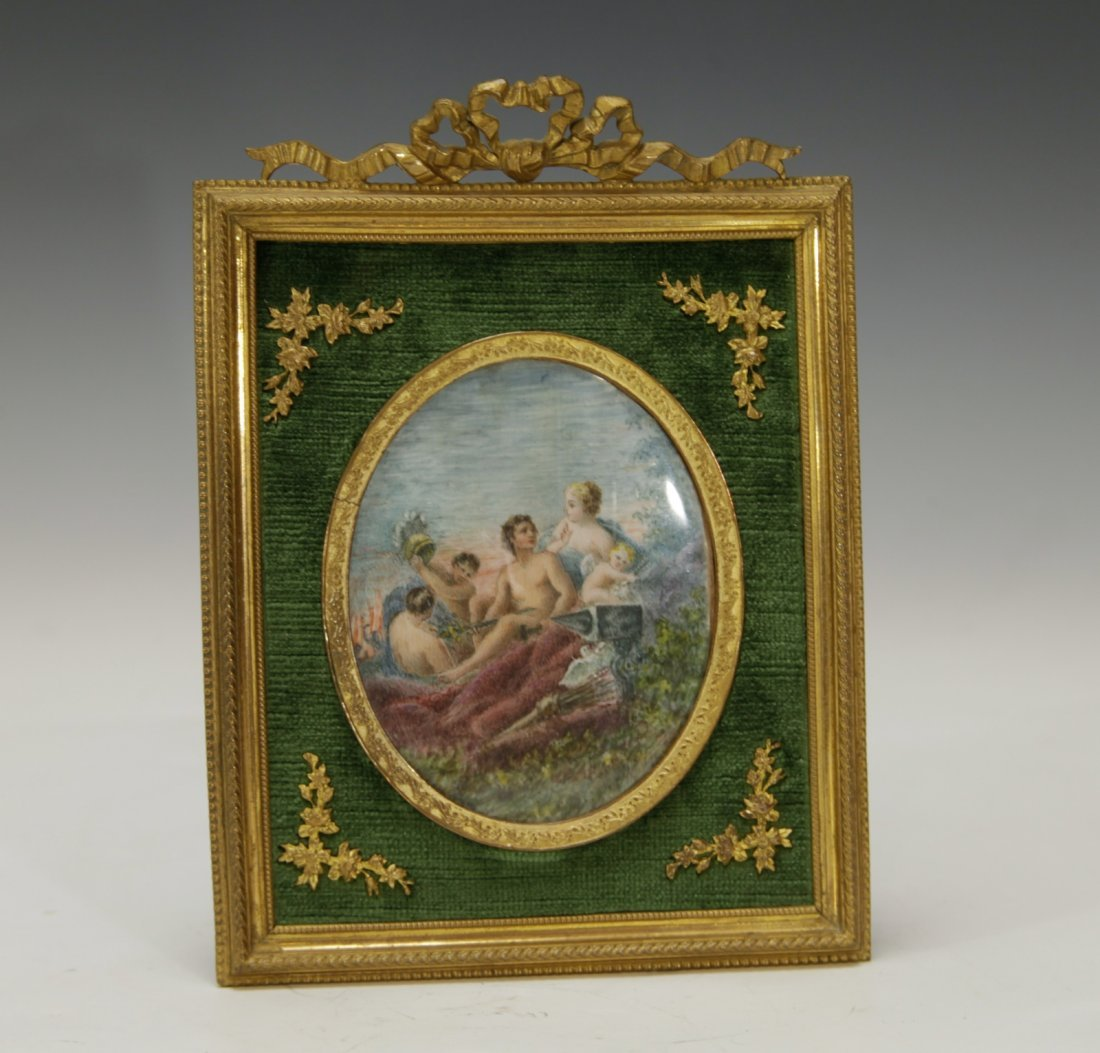 Antique French Photo with Gilt Frame