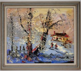 """Morris Katz"" Original Oil on Board Painting"