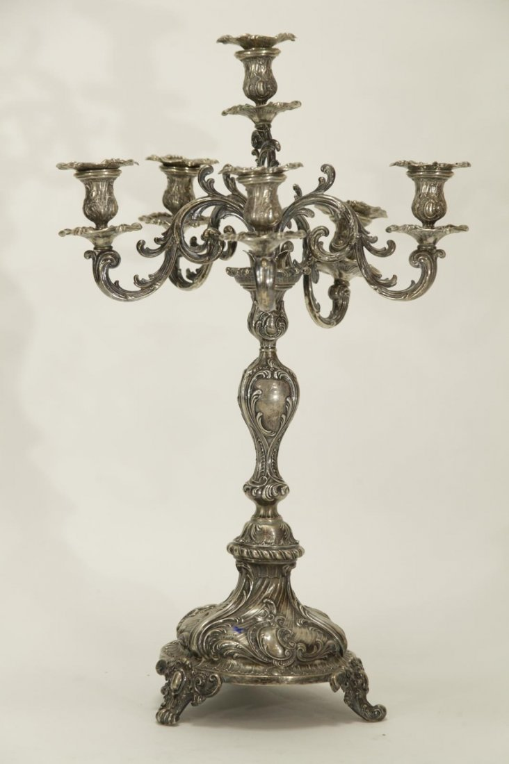 Silver Six Branches Candle Braun - 19th C.