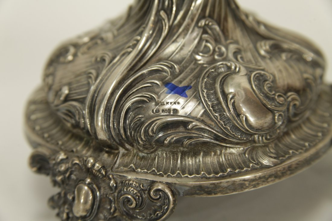 Silver Six Branches Candle Braun - 19th C. - 4