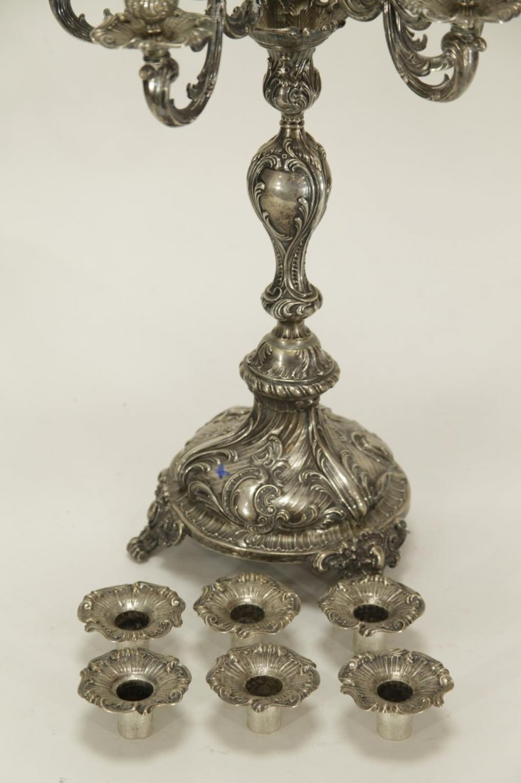 Silver Six Branches Candle Braun - 19th C. - 6