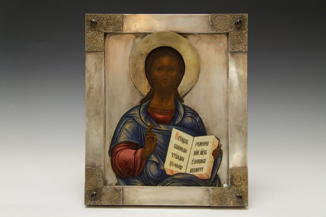 19th C. Russian Icon of Jesus Christ