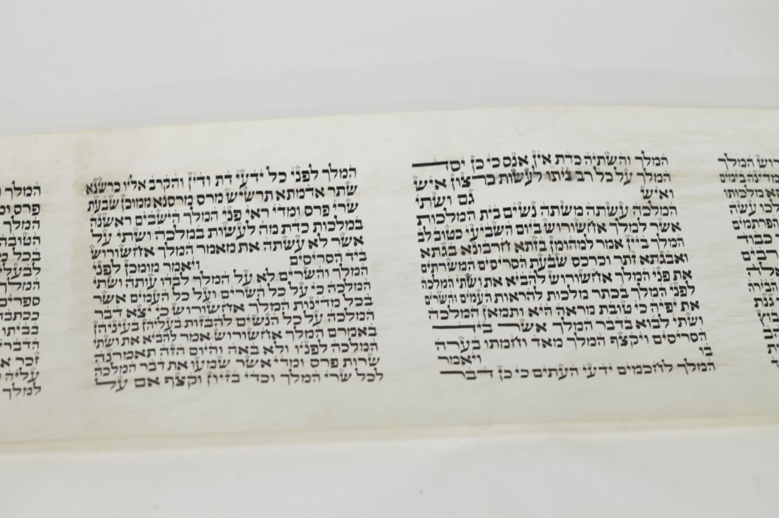 Scroll of Esther in Olive Wood Cover - 7