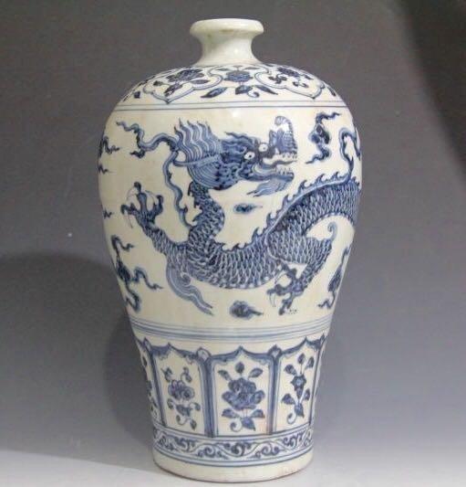 Chinese Blue/White Porcelain Flower Vase