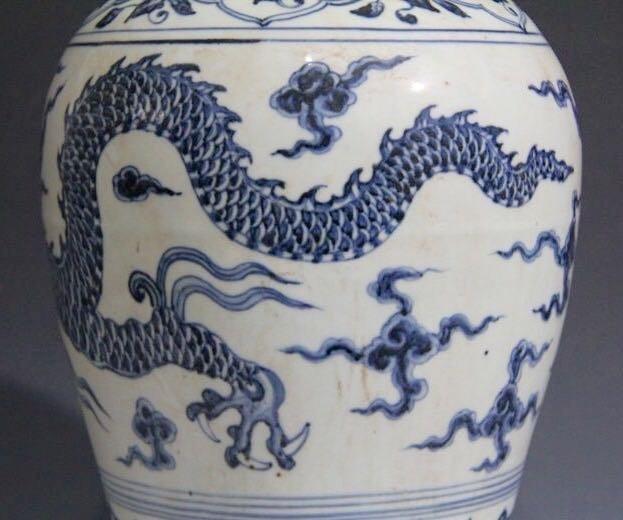 Chinese Blue/White Porcelain Flower Vase - 5