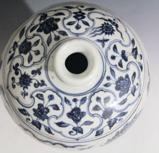 Chinese Blue/White Porcelain Flower Vase - 6