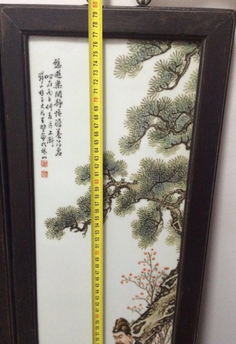 Set of 4 Chinese Famille Rose Plaque, Marked - 10