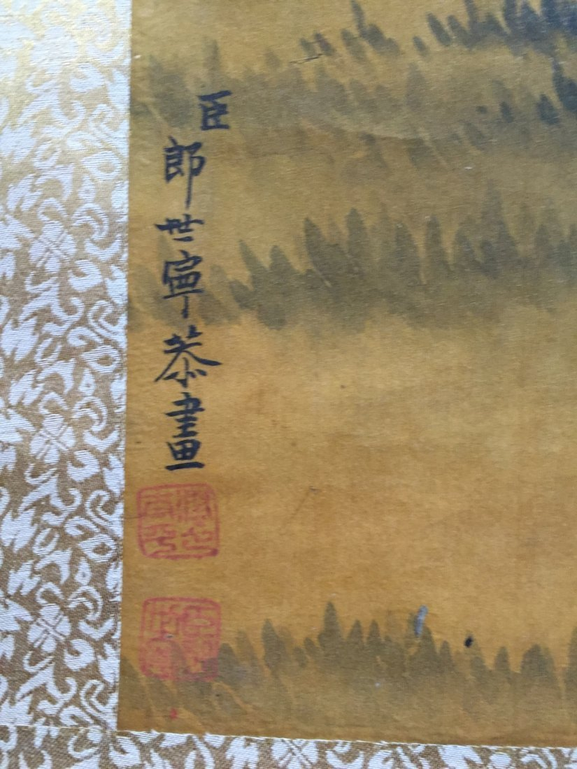 Chinese Ink/Color Scroll Painting - 6