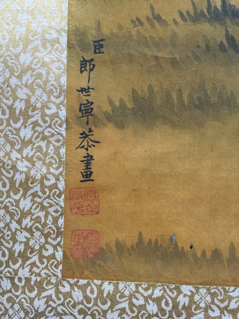 Chinese Ink/Color Scroll Painting - 7