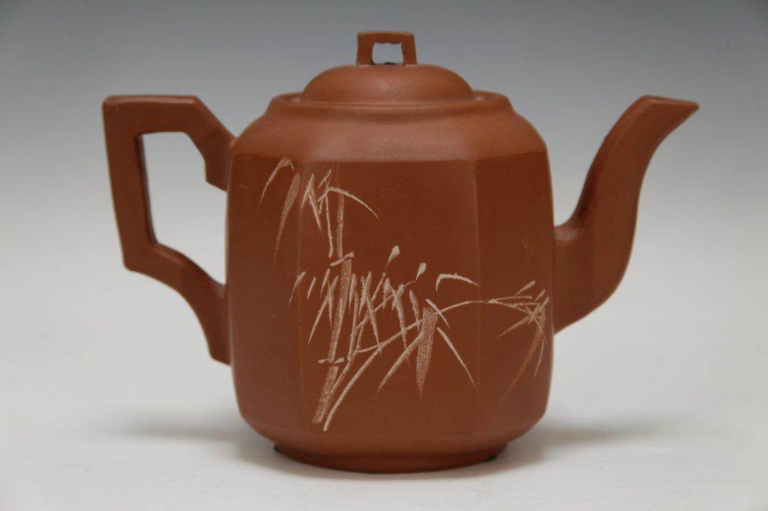 Chinese Republic Period YiXing Zisha Teapot w/Mark - 5